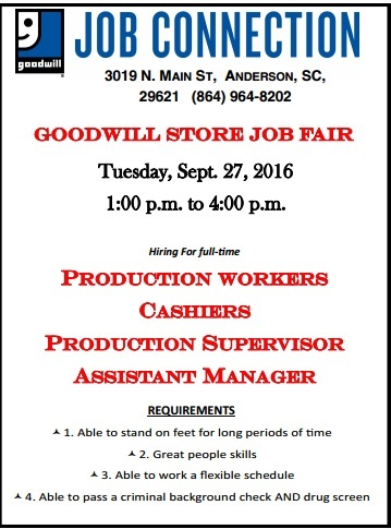 Download Goodwill Store Sept 27 Job Fair HERE
